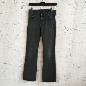 SEVEN FOR ALL MANKIND GREY SKINNY BOOT CUT PANTS 2